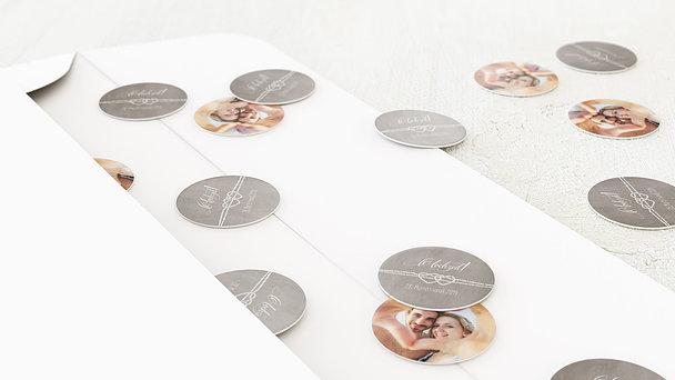 Konfetti im Umschlag - Liebesknoten