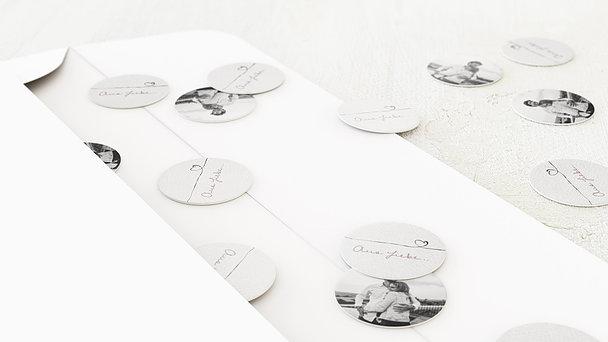 Konfetti im Umschlag - Schleifenherz