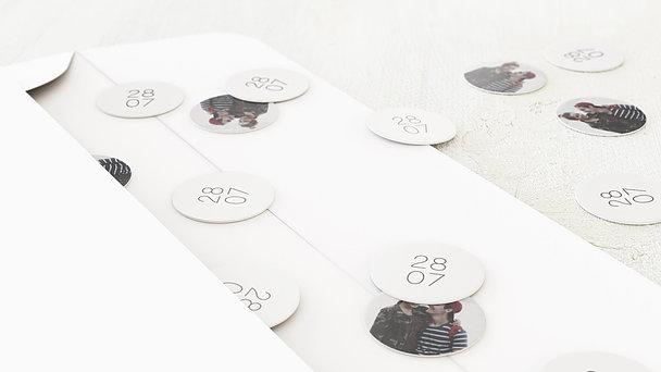 Konfetti im Umschlag - Große Nummer