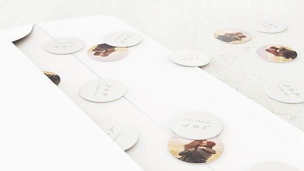 Konfetti im Umschlag - Liebeswimpel