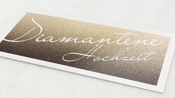 Diamantene Hochzeit Einladung - Diamantene Zeiten