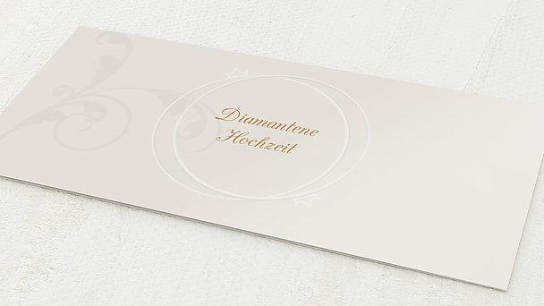 Diamantene Hochzeit Einladung - Pastellblüte