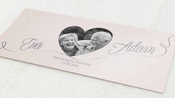 Diamantene Hochzeit Einladung - Leichte Diamanthochzeit
