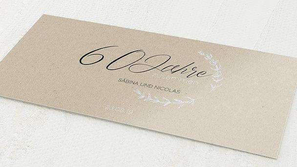 Diamantene Hochzeit Einladung - Freudenjahre