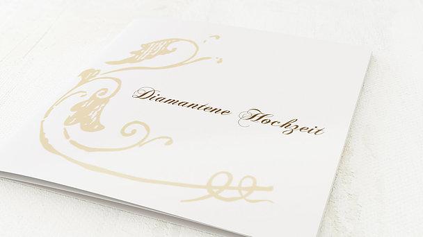 Umschlag Mit Design Diamantene Hochzeit Blumenbraut Detail