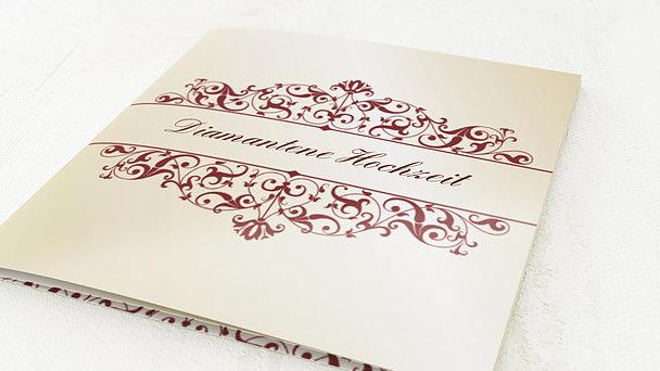 Diamantene Hochzeit Einladung - Bestimmung