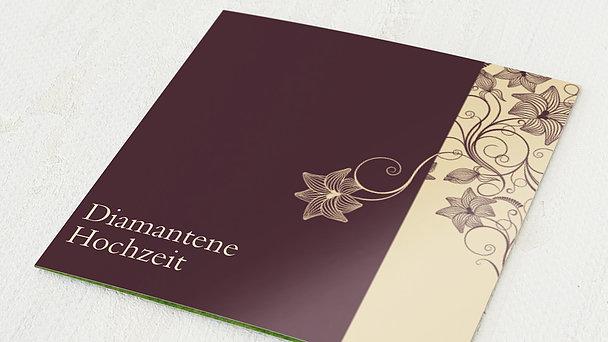 Diamantene Hochzeit Einladung - Sinfonie der Blüten