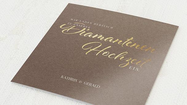 Diamantene Hochzeit Einladung - Rustikale Eleganz