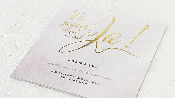 Diamantene Hochzeit Einladung - Bedeutsame Zweisamkeit