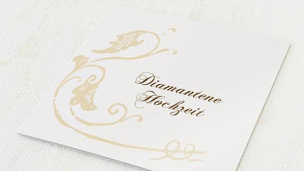Diamantene Hochzeit Einladung - Blumenbraut