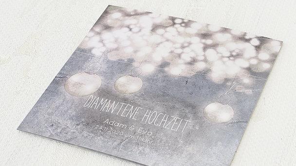 Diamantene Hochzeit Einladung - Luminaria diamant