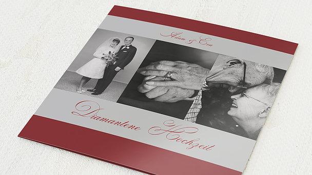 Diamantene Hochzeit Einladung - Ja, ich will