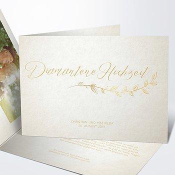 Diamantene Hochzeit Einladung - Diamantener Spross