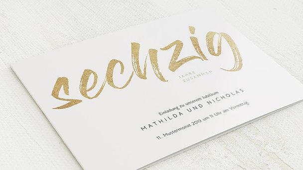 Diamantene Hochzeit Einladung - Diamantener Jahrestag