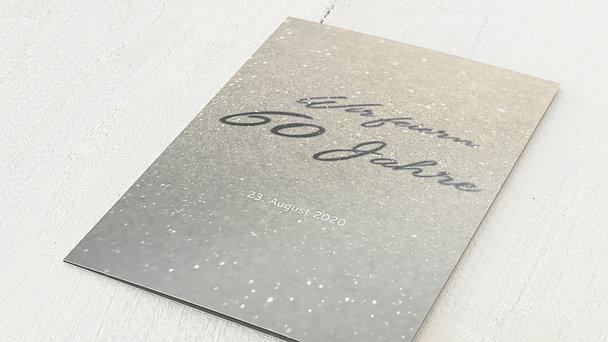 Diamantene Hochzeit Einladung - Diamantweg