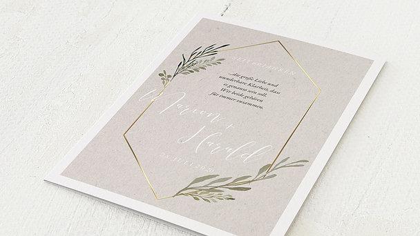 Diamantene Hochzeit Einladung - Elegant gerankt