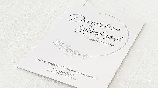Diamantene Hochzeit Einladung - Diamantener Glücksfunke