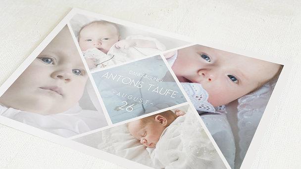 Danksagung zur Taufe - Facetten Baby