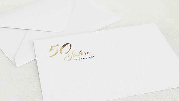 Umschlag mit Design Goldene Hochzeit - Rustikale Eleganz