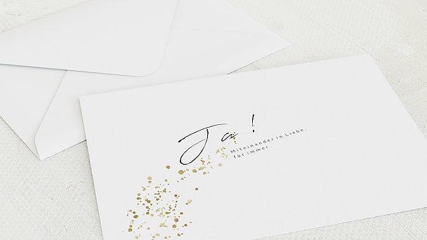 Umschlag mit Design Goldene Hochzeit - Freudensprenkel