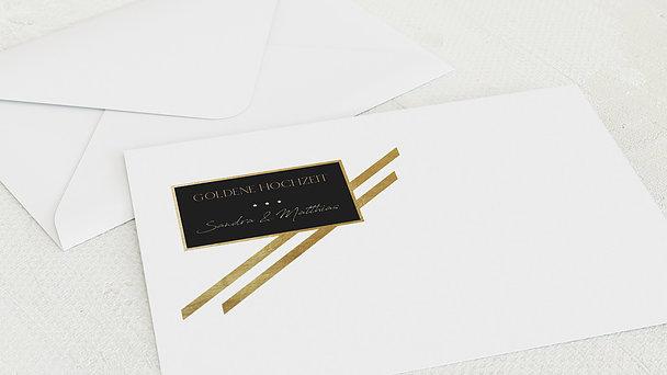 Umschlag mit Design Goldene Hochzeit - Mustergültig