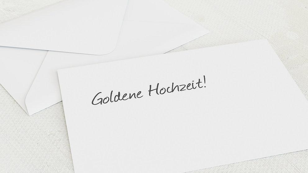 Umschlag Mit Design Goldene Hochzeit Getäfelt Detail