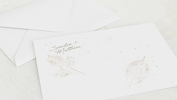 Umschlag mit Design Goldene Hochzeit - Filigrane Blätter