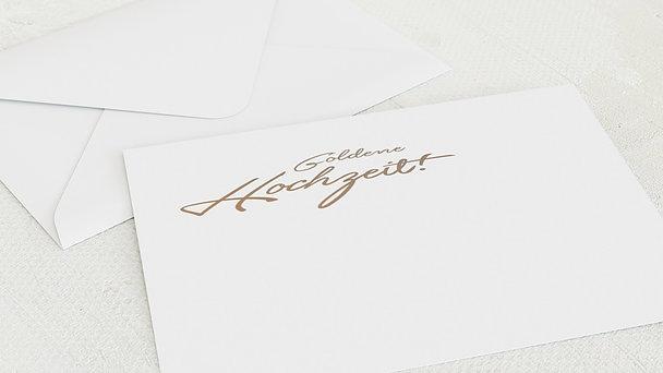 Umschlag mit Design Goldene Hochzeit - Goldweg