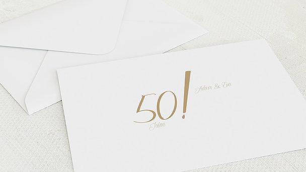 Umschlag mit Design Goldene Hochzeit - Ja, wir beide für immer