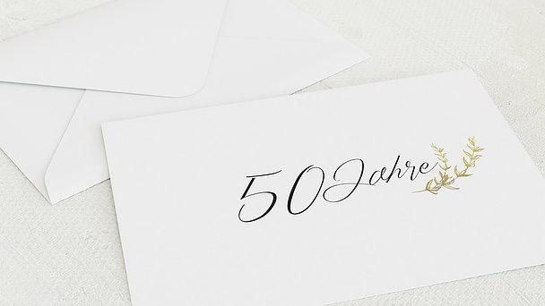 Umschlag mit Design Goldene Hochzeit - Freudenjahre