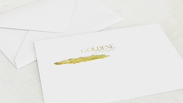 Umschlag mit Design Goldene Hochzeit - Goldmassiv