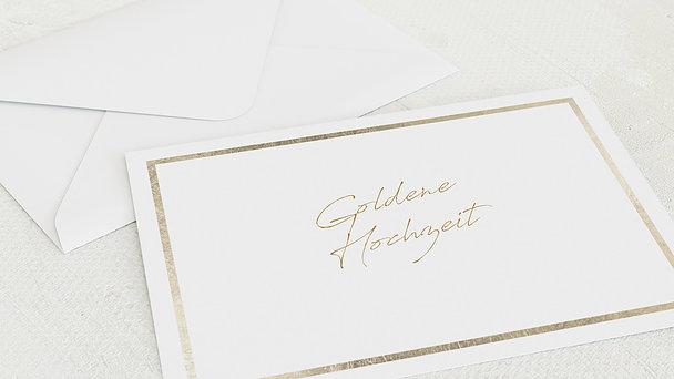 Umschlag mit Design Goldene Hochzeit - Moment des Glücks