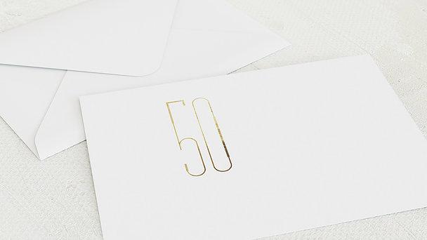 Umschlag mit Design Goldene Hochzeit - Goldkunst