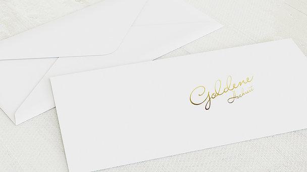 Umschlag mit Design Goldene Hochzeit - Goldene Zeiten