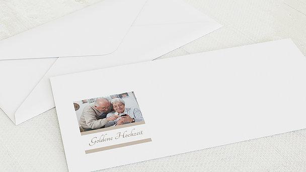 Umschlag mit Design Goldene Hochzeit - Ja, ich will
