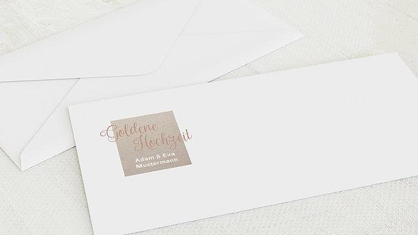 Umschlag mit Design Goldene Hochzeit - Gold-Impression