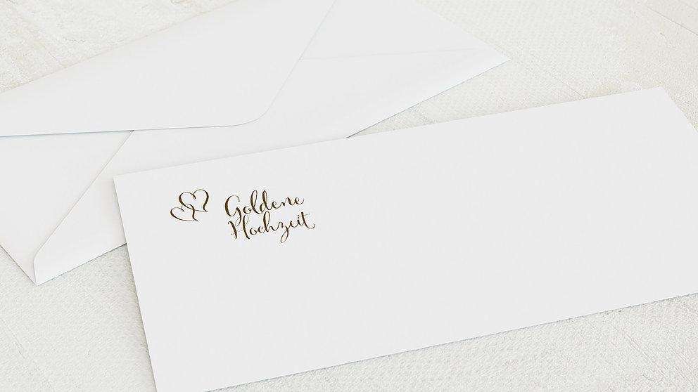 Umschlag Mit Design Goldene Hochzeit Goldene Post Detail