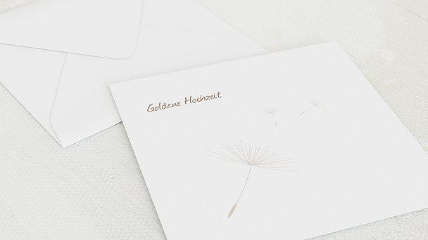 Umschlag mit Design Goldene Hochzeit - Löwenzahn