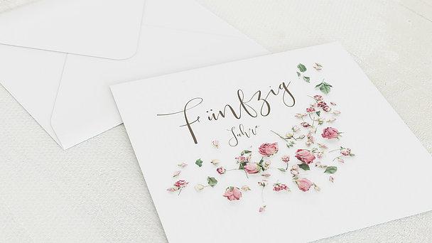 Umschlag mit Design Goldene Hochzeit - Rosentraum