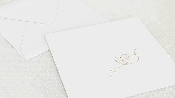 Umschlag mit Design Goldene Hochzeit - Leichte Goldhochzeit