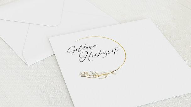 Umschlag mit Design Goldene Hochzeit - Goldener Glücksfunke