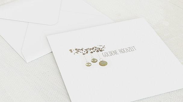 Umschlag mit Design Goldene Hochzeit - Luminaria gold