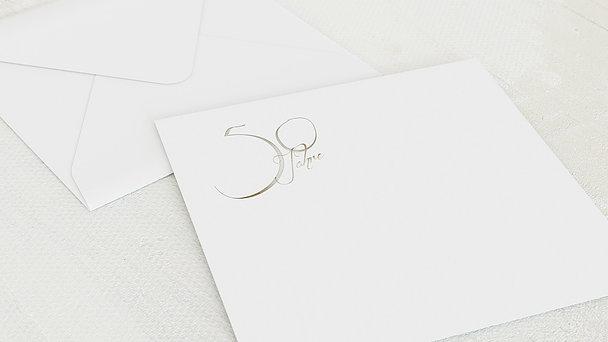 Umschlag mit Design Goldene Hochzeit - Goldglanz