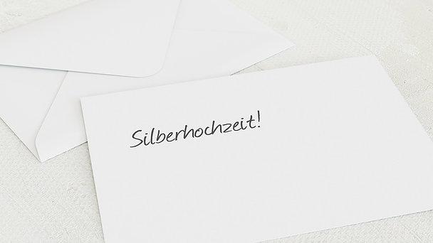 Umschlag mit Design Silberne Hochzeit - Getäfelt