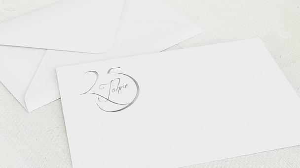 Umschlag mit Design Silberne Hochzeit - Silberglanz
