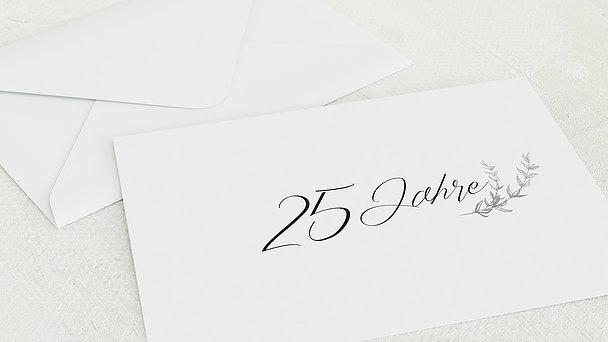 Umschlag mit Design Silberne Hochzeit - Freudenjahre