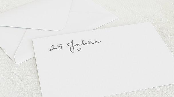 Umschlag mit Design Silberne Hochzeit - Zusammen gelacht