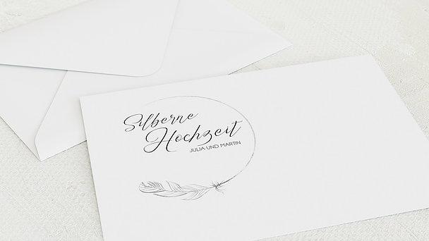 Umschlag mit Design Silberne Hochzeit - Silberner Glücksfunke