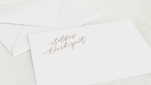 Umschlag mit Design Silberne Hochzeit - Silberstreif