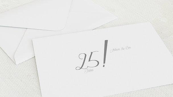 Umschlag mit Design Silberne Hochzeit - Ja, wir wollen immer noch